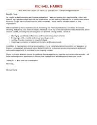 Cover Letter Examples Finance Finance Cover Letter Professional