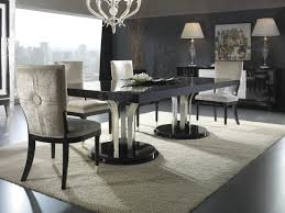 dining room sleek rectangle black glossy wood dining table with from 11 high back chairs soft brown wooden dining chair