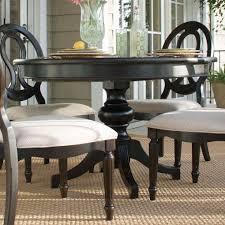 image of black pedestal dining table