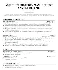 Assistant Property Manager Job Description Property Managers Resume