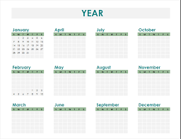 schedule creater calendar creator any year office templates