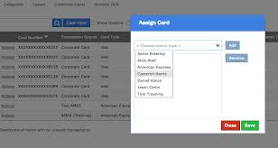 Assigning New Company Credit Cards To Users Nexonia