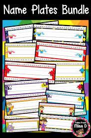 name plates bundle 144 designs for student desks including superhero pirate monster
