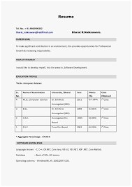 Fresher Job Resume 63 Good Photograph Of How To Make Resume For Freshers Best