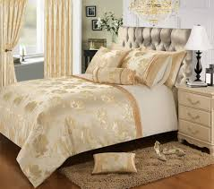 cream gold colour stylish floral jacquard duvet cover luxury