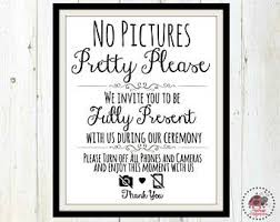 Unplugged Ceremony Wedding Sign Unplugged Sign No Cell Phone Sign