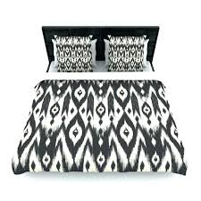 black and cream bedding lane tribal tan dark woven duvet cover from