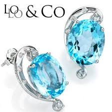 dazzling lolo co 12 58 carat tw frost blue topaz genuine diamond platinum over 0 925 sterling silver earrings