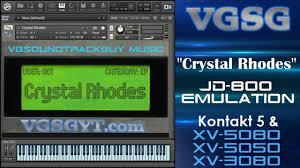 VGSG's Crystal Rhodes v2.0 Showcase for Kontakt & XV Synths by  VGSoundtrackGuy
