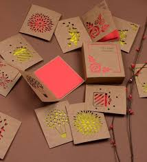 Red Paper Love And Light Lasercut Notecards Set Of 12 12 Pages Each By Doodle