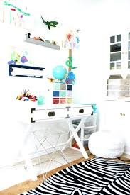 kids art room desk space small wooden nook