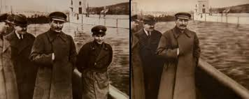 joseph stalin with nikolai yezhov photoshopped out agency office literally disappears hours