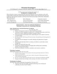 Service Coordinator Resumes Marketing Coordinator Resume By Christina Dominguez Via