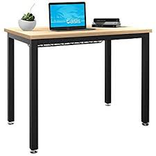 Small Computer Desk for Home Office - 36 Length Table w/ Cable Organizer -
