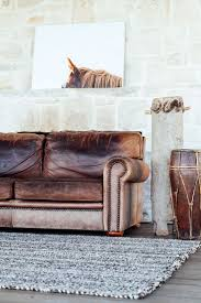 Rustic Leather Living Room Furniture 17 Best Ideas About Distressed Leather Couch On Pinterest Brown