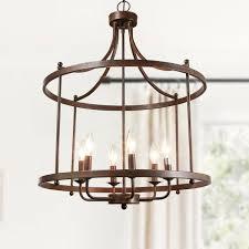 lnc 6 light antique bronze unique open