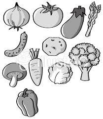 野菜詰め合わせモノクロイラスト No 627000無料イラストなら