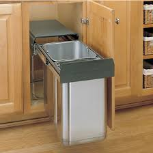 Kitchen Trash Can Cabinet For Or Pull Out Built In Cans Slide Under Sink
