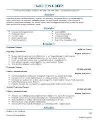 Management Cv Management Cv Templates Cv Samples Examples