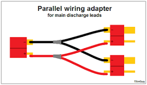 how to parallel charging tjintech Lipo Battery Wiring Diagram parallel main leads adapter for 2 packs 7.4v lipo battery wiring diagram