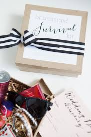 a darling bridesmaid survival kit fill your box with fun items that your girls will love