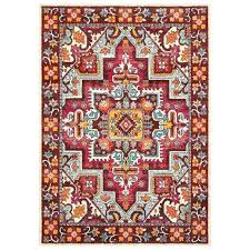 red throw rugs sphinx by oriental weavers bohemian red pink area rug solid red throw rugs