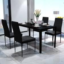 4pcs Chaises Table Moderne De Salle à Manger En Similicuir En