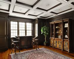 office paneling. Wood Trim Ceiling Home Office Traditional With Paneling Recessed Lighting