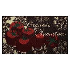 kitchen accent rugs tomatoes printed textured loop oblong kitchen accent rug red kitchen accent rugs