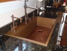 Copper Kitchen Sink Faucet Kitchen Handcrafted Copper Accent Kitchen Design Annsaticcom