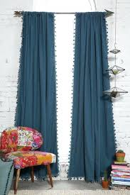 50 inch long curtains blackout pompom curtain window