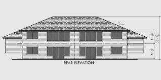house side elevation view for d 492 duplex house plans split level duplex house