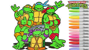 Teenage Mutant Ninja Turtles Coloring Book Tmnt Colouring Pages