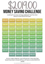 Save Money Monthly Chart Save 2020 With The 52 Week Money Challenge
