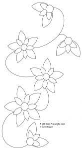 Free Hand Embroidery Patterns Beauteous Free Hand Embroidery Pattern For A Floral Border Pintangle