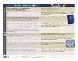 Christianity And Mormonism Comparison Chart Mormon Vs Christian Beliefs Mormon Beliefs Mormonism Vs
