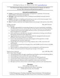 resume examples for retail management positions templates samples position  sample territory manager ...
