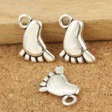 10шт антикварной серебряной ноги очарование Кулон для ...