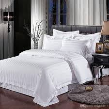 whole hotel bedding sets queen king bed set solid color duvet cover bed sheet cotton for guest room home textile comforter sets queen white