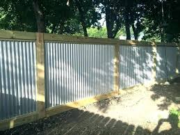 corrugated metal privacy fence. Unique Fence Corrugated Metal Fence Ideas Home Amazing For  For Corrugated Metal Privacy Fence