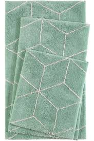 esprit flair geo green bath mat