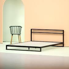 "Trisha Steel Low Profile Platform Bed Frame 7"" with Headboard | Zinus"