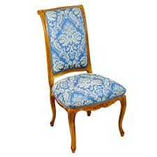 wooden chair side. CHAIR-SIDE-BLUE DAMASK-WOODEN Wooden Chair Side