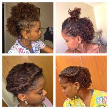 Hairstyles Alluring Natural Hairstyles For Short Length Hair
