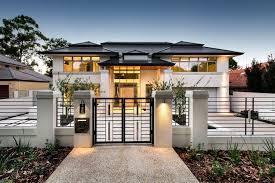 elegant modern front yard