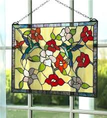stained glass hummingbird stained glass patterns garden window panel lamp gl