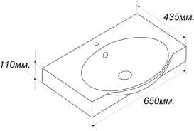 *Умывальник <b>Sanita Luxe INFINITY</b> 65 (650х435x110) (Санита ...