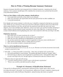Resume Summary Statement Awesome 60 Career Summary Examples PDF