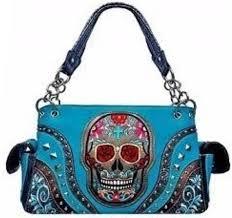 4 units of sugar skull rhinestone purse with pocket leather purses and handbags at alltimetrading com