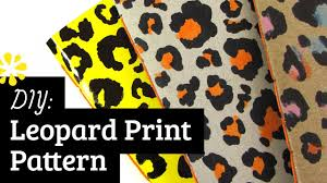 Print And Pattern Enchanting DIY Leopard Print Pattern Sea Lemon YouTube